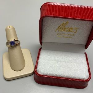 Jewelry - 14K Two Tone Gold Tanzanite and Diamond Ring